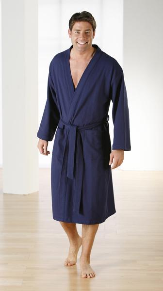kimono bademantel marine f r damen und herren textil bauer. Black Bedroom Furniture Sets. Home Design Ideas