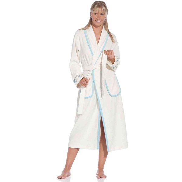 vossen corinne damen schalkragen bademantel ivory textil bauer. Black Bedroom Furniture Sets. Home Design Ideas
