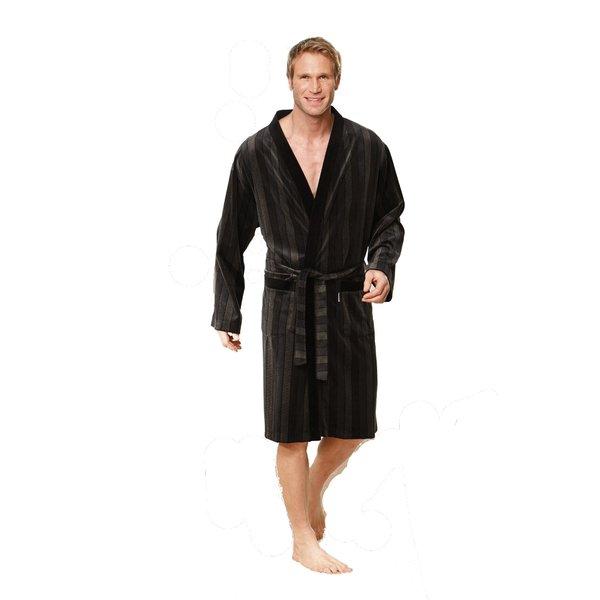 HK Kleinmann Herren Nicki Kimonobademantel schwarz Größe XL